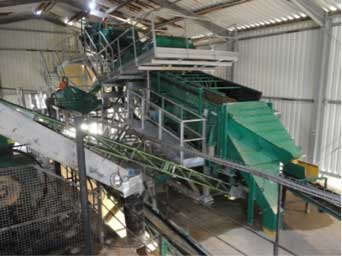 sand and gravel processing plants